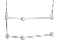 Gemini Constellation Necklace -925  Sterling Silver