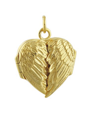 Angel Wing Locket - 14K Gold Vermeil