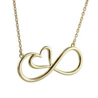 Infinity Heart Necklace - 14k Gold Over Sterling Silver