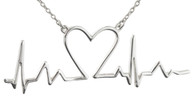 Heartbeat Necklace - 925 Sterling Silver