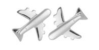 Airplane Earrings -  925 Sterling Silver Post Earrings
