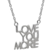 Love You More Necklace - Sterling Silver