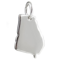 Georgia State Charm - 925 Sterling Silver