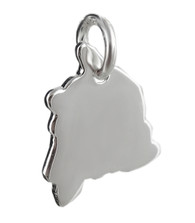 Hawaii State Charm - 925 Sterling Silver