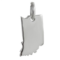 Indiana State Charm - 925 Sterling Silver