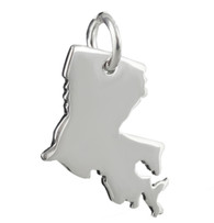 Louisiana State Charm - 925 Sterling Silver