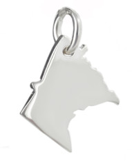 Minnesota State Charm - 925 Sterling Silver