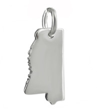 Mississippi State Charm - 925 Sterling Silver