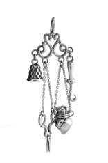 Chatelaine Sewing Charm - 925 Sterling Silver