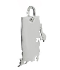 Rhode Island State Charm - 925 Sterling Silver