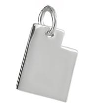 Utah State Charm - 925 Sterling Silver
