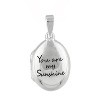 Oval Locket You Are My Sunshine - 925 Sterling Silver