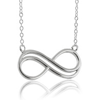 Infinity Necklace - 925 Sterling Silver