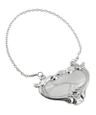 Liquor Decanter Hanging Tag - 925 Sterling Silver