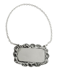 Rectangle Liquor Decanter Hanging Tag - 925 Sterling Silver