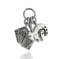 Good Luck Trio Charm - 925 Sterling Silver