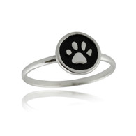 Paw Print Ring - 925 Sterling Silver