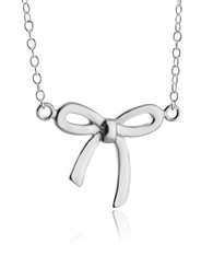 Tied Bow Necklace - 925 Sterling Silver