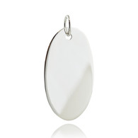 Sterling silver oval 32mm x .6mm stamping blank