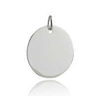 Sterling Silver Circle 25mm Stamping Blank Charm