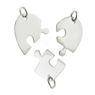 Sterling Silver 3 Piece Puzzle Stamping Blank Set