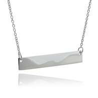 Sterling Silver Stamping/Engravable Bar Necklace