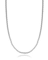 "Spiga Wheat Chain - 925 Sterling Silver 3mm Diamond Cut Italy 16""-30"" NEW Italian"
