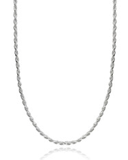 """Diamond Cut Rope Chain - 925 Sterling Silver 1.6mm 035 Italy 16""""-30"""""""