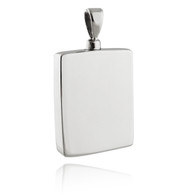 MEMORIAL URN LOCKET - 925 STERLING SILVER, CREMATION JEWELRY