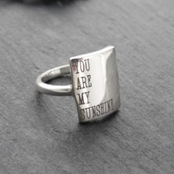 Sterling Silver You Are My Sunshine Ring