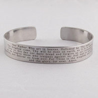 The Lord's Prayer Cuff Bracelet - Engraved Stainless Steel