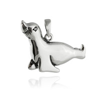 Sterling Silver Whimsical Seal Pendant