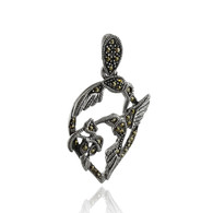 Sterling Silver Marcasite Hummingbird Pendant