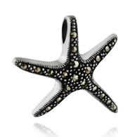 Sterling Silver Marcasite Starfish Pendant