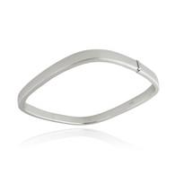 Square Bangle Bracelet - 925 Sterling Silver