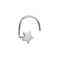 Star Nose Stud with Nostril Screw - 925 Sterling Silver