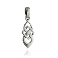 Celtic Knot Drop Pendant - 925 Sterling Silver