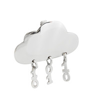 Binary Rain Cloud Necklace - 925 Sterling Silver