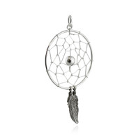 Dream Catcher Pendant- 925 Sterling Silver - Large