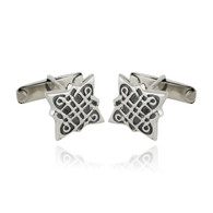 Celtic Knot Cufflinks - 925 Sterling Silver Men's Unique Elegant Man Cuff Link