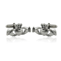 Claddagh Heart Cuff Links - 925 Sterling Silver Men's Cufflinks