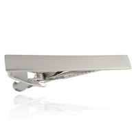Engravable Tie Clip - Stainless Steel Spring Clasp