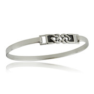Celtic Knot Hearts Cuff Bracelet - 925 Sterling Silver Bangle Bracelets Gift NEW