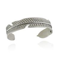 Feather Cuff Bracelet - 925 Sterling Silver  Bangle Bracelets Birds Feathers NEW