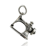 Sewing Machine Charm - 925 Sterling Silver Pendant