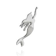 Swimming Mermaid Pendant - 925 Sterling Silver