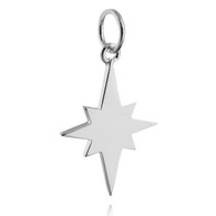 North Star Charm - 925 Sterling Silver