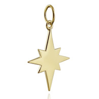 North Star Charm - Gold Plated 925 Sterling Silver