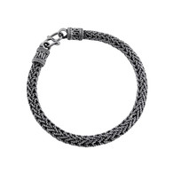 """8"""" Foxtail Weave Bali Bracelet - 925 Sterling Silver"""