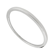 "8.5"" Plain Round Bangle Bracelet - 925 Sterling Silver - Hollow Lightweight"